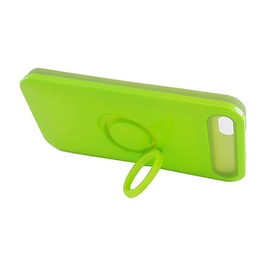 Insten Two-Tone/NightGlow Ring Stand Hybrid Jelly Hard Silicone Case Cover For Apple iPhone 5 / 5S - Neon Green