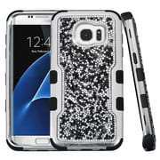 Insten Hard Dual Layer Diamond Silicone Cover Case For Samsung Galaxy S7 Edge - Black