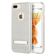 Insten Glittering Starry Dazzle Luxury TPU Cover Rubber Case with Kickstand For Apple iPhone 7 Plus - Silver