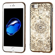 Insten Sunflower Rubber Cover Case For Apple iPhone 7 - Gold