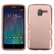 Insten Tuff Hard Dual Layer Rubber Silicone Cover Case For Alcatel Stellar / Tru - Rose Gold