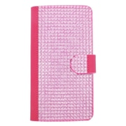 Insten Folio Wallet Leather Diamante Case with Card slot For LG G Stylo / G Vista 2 - Hot Pink