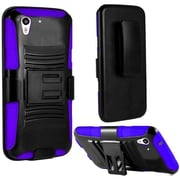 Insten Black/Purple Dual Layer Hybrid Hard Shockproof PC/Silicone Holster Case Cover For HTC Desire Eye