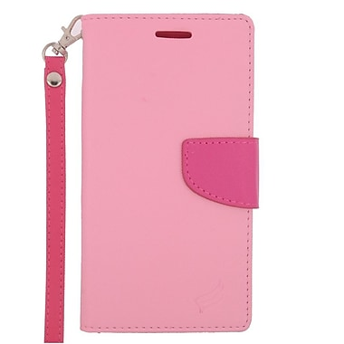 Insten Wallet Leather Stand Case with Lanyard & Card slot For LG G Stylo / G Vista 2 - Pink/Hot Pink