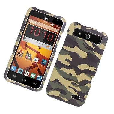 Insten Camouflage Hard Rubber Case For ZTE Speed - Green/Black