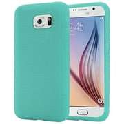 Insten Rugged Skin Rubber Cover Case For Samsung Galaxy S6 - Teal