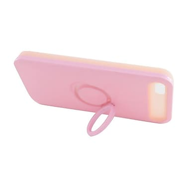 Insten Two-Tone/NightGlow Ring Stand Hybrid Jelly Hard Silicone Case Cover For Apple iPhone 5 / 5S - Pink