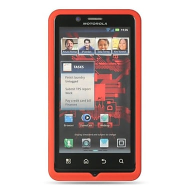 Insten Premium Silicone Soft Skin Back Gel Cover Case For Motorola Droid Bionic XT875 - Red