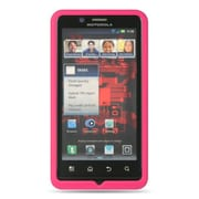Insten Premium Silicone Soft Skin Back Gel Cover Case For Motorola Droid Bionic XT875 - Hot Pink