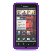 Insten Premium Silicone Soft Skin Back Gel Cover Case For Motorola Droid Bionic XT875 - Purple
