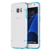 Insten Fusion Candy Clear Back 4 Dots Hybrid Dual Layer Hard PC/TPU Case For Samsung Galaxy S7 Edge - Clear/Blue
