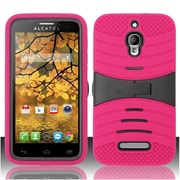 Insten Pink FOR Alcatel One Touch Fierce 7024T Hybrid Rugged Hard Shockproof CASE COVER STAND ARMOR COMBO