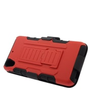Insten Car Armor Stand Dual Layer Hybrid Case with Holster For HTC Desire 626 - Red/Black