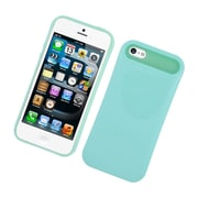 Insten Two-Tone/NightGlow Jelly Hybrid Hard Silicone Case Cover For Apple iPhone 5 / 5S - Mint Green