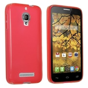 Insten Red SILICONE TPU Rubber SKIN Phone CASE For Alcatel One Touch Fierce 7024T