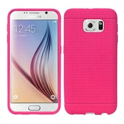 Insten Rugged Rubber Case For Samsung Galaxy S6 - Hot Pink