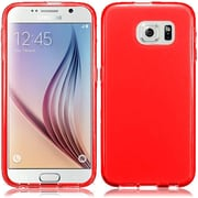Insten Frosted Ultra Thin Rubber Cover Skin Case For Samsung Galaxy S6 , Red