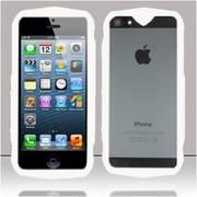 Insten White Tank Design Bumper TPU Soft Gel Skin Case Cover For Apple iPhone SE 5