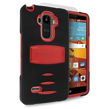 Insten Dual Layer Rubber Hard Case with stand For LG G Stylo / G Vista 2 - Black/Red