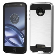 Insten Hard Dual Layer TPU Case For Motorola Moto Z Force Droid Edition - Silver/Black