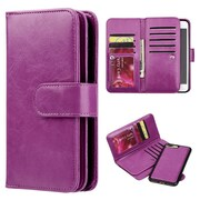 Insten Timberland Double Flop Leather Wallet Case with Magnetic Phone Holder For Apple iPhone 7 Plus - Purple