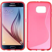 Insten S Shape TPU Case For Samsung Galaxy S6 - Hot Pink