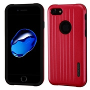 Insten Hard Dual Layer Rubberized Silicone Case For Apple iPhone 7 - Red/Black