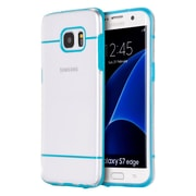 Insten Fusion Candy Skin Hybrid Dual Layer Hard PC/TPU Case For Samsung Galaxy S7 Edge - Clear/Blue