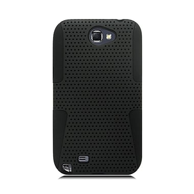 Insten TPU Rubber Hard PC Candy Skin Mesh Case Cover For Samsung Galaxy Note II - Black