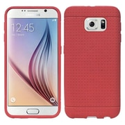 Insten Rugged Silicone Rubber Cover Case For Samsung Galaxy S6 - Red