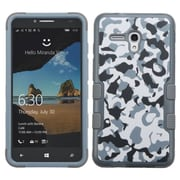 Insten Tuff Camouflage Hard Hybrid Rubber Silicone Cover Case For Alcatel One Touch Fierce XL - Blue/Gray