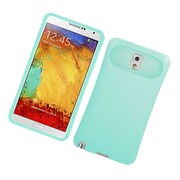 Insten Two-Tone/NightGlow Jelly Hybrid Hard Silicone Case Cover For Samsung Galaxy Note 3 - Mint Green