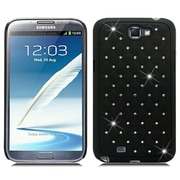 Insten Hard Case with Diamond For Samsung Galaxy Note 2 II - Black