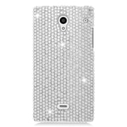 Insten Hard Diamond Cover Case For Sharp Aquos Crystal - Silver