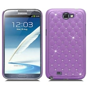 Insten Hard Case with Diamond For Samsung Galaxy Note 2 II - Purple