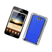 Insten Hard Rubber Coated Case with Diamond For Samsung Galaxy Note LTE - Blue