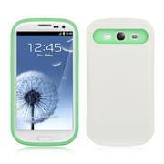 Insten Glow-in-Dark Skin Hyrid Hard PC TPU Shockproof Case For Samsung Galaxy S3 I747 - White/Green
