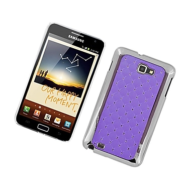 Insten Hard Rubber Case with Diamond For Samsung Galaxy Note LTE - Purple