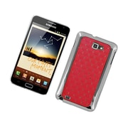 Insten Hard Rubber Coated Case with Diamond For Samsung Galaxy Note LTE - Red