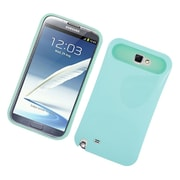 Insten Two-Tone/NightGlow Jelly Hybrid Hard Silicone Case Cover For Samsung Galaxy Note II - Mint Green