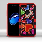 Insten Hearts Hard Hybrid Rubber Silicone Case For Apple iPhone 7 - Colorful