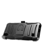 Insten Hybrid Hard Silicone Amor Shockproof Stand Holster Case Cover For LG Tribute HD / X STYLE - Black