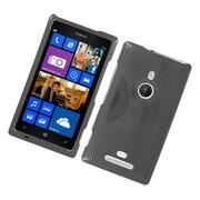 Insten Carbon Fiber Hard Cover Case For Nokia Lumia 925 - Dark Gray