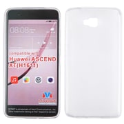Insten Hard Rubber Coated Cover Case For Huawei Ascend XT - White