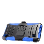 Insten Hybrid Hard Silicone Amor Shockproof Stand Holster Case Cover For LG Tribute HD / X STYLE - Black/Blue