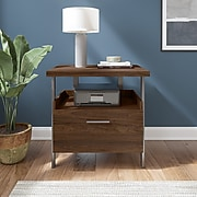 """Bush Furniture Architect 1-Drawer Lateral File Cabinet, Not Assembled, Letter/Legal, Modern Walnut, 30.35"""" (ACF131MW-03)"""