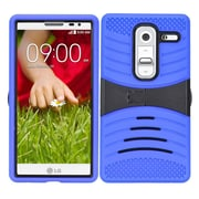 Insten Wave Symbiosis Skin Dual Layer Rubber Hard Cover Case w/stand For LG Class - Blue/Black