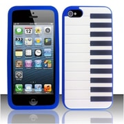 Insten Blue Piano Silicone Soft Skin Case Cover For Apple iPhone SE 5