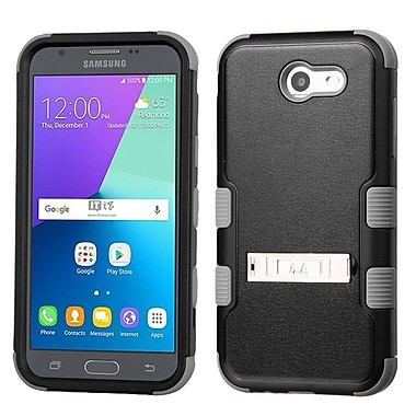 Insten TUFF Hybrid Stand Case [Military-Grade] For Samsung Galaxy Express Prime 2 / J3 (2017) - Black/Iron Gray