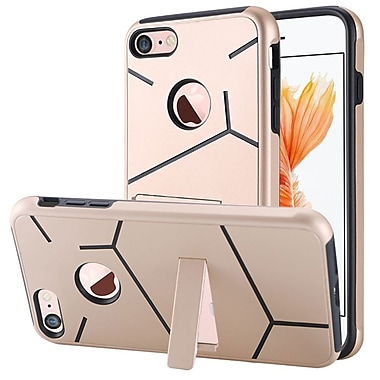 Insten Hard Hybrid TPU Case w/stand For Apple iPhone 7 - Gold/Black